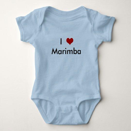 I Heart Marimba Baby Bodysuit