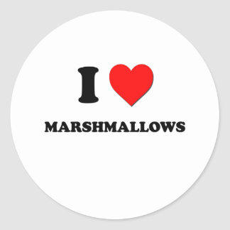I Heart Marshmallows Classic Round Sticker