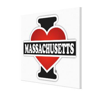 I Heart Massachusetts Canvas Prints