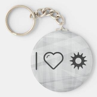 I Heart Massages Basic Round Button Keychain