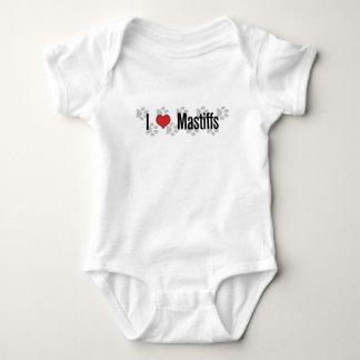 I (heart) Mastiffs Baby Bodysuit