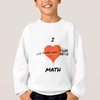 I Heart Math Equation Sweatshirt