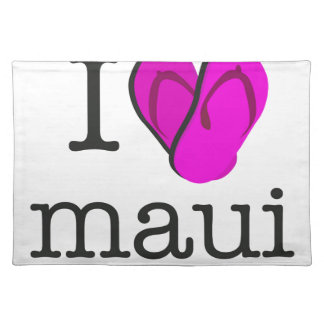 I Heart Maui Flip Flops Placemat