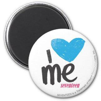I Heart Me Aqua 2 Inch Round Magnet