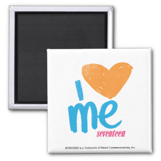 I Heart Me Orange/Aqua Refrigerator Magnets