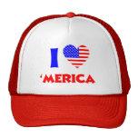 I heart merica mesh hat