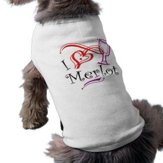 I Heart Merlot Pet T Shirt