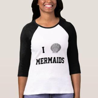 I Heart Mermaids Baseball Tee
