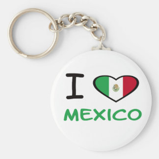 I Heart Mexico Basic Round Button Keychain