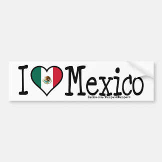 I HEART MEXICO BUMPER STICKER