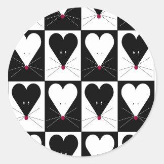 I Heart Mice Classic Round Sticker