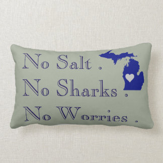 I heart Michigan Lumbar Pillow