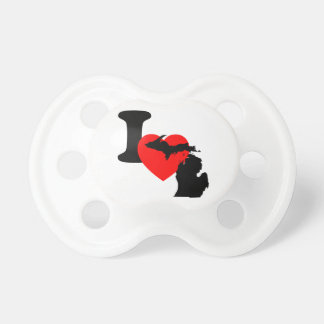 I Heart Michigan Pacifier