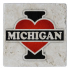 I Heart Michigan Trivet