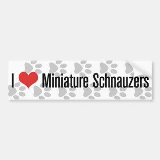 I (heart) Miniature Schnauzers Bumper Sticker
