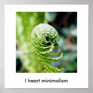 I heart minimalism posters