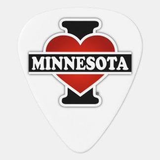 I Heart Minnesota Guitar Pick