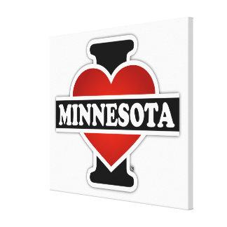 I Heart Minnesota Stretched Canvas Print