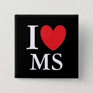 I Heart Mississippi 2 Inch Square Button