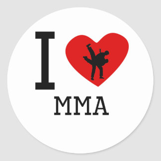 I Heart MMA Round Sticker