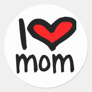 I heart Mom! Classic Round Sticker