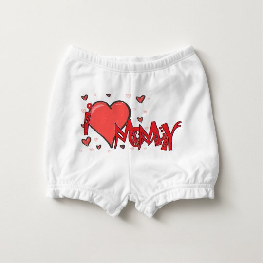 I heart Mommy and Daddy Diaper Cover