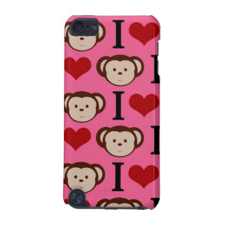 I Heart Monkeys Hot Pink iPod Touch (5th Generation) Cases