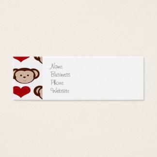 I Heart Monkeys I Love Monkey Valentines Gifts Mini Business Card