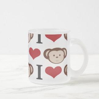 I Heart Monkeys I Love Monkey Valentines Gifts Coffee Mugs