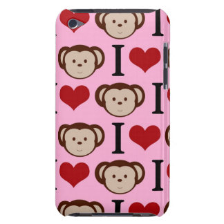 I Heart Monkeys Pink Case-Mate iPod Touch Case
