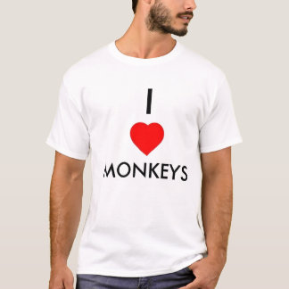 I Heart Monkeys T-Shirt