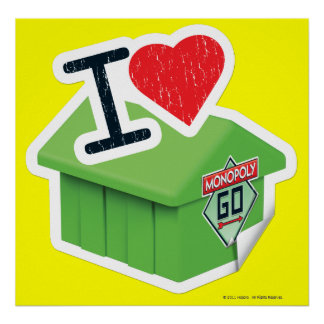 I Heart Monopoly Poster