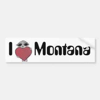 I Heart Montana Alien Bumper Sticker