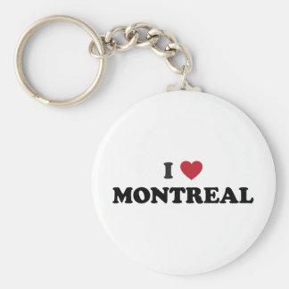 I Heart Montreal Canada Basic Round Button Keychain