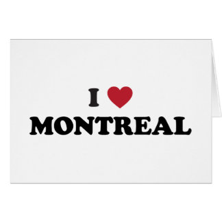 I Heart Montreal Canada Greeting Card