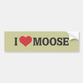 I Heart Moose Bumper Sticker