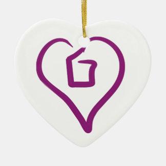 I heart more than 1 - Ornament