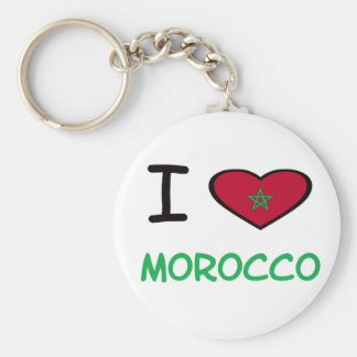 I Heart Morocco Basic Round Button Keychain