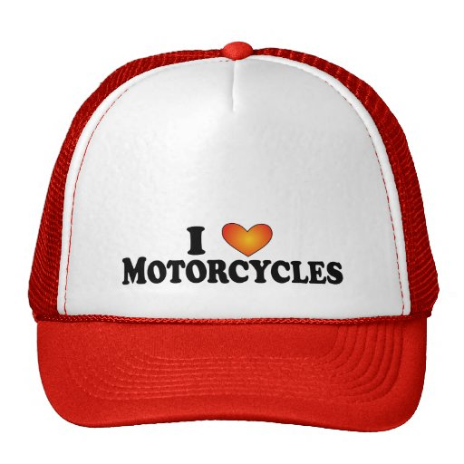 I (heart) Motorcycles - Lite Multi-Products Mesh Hat