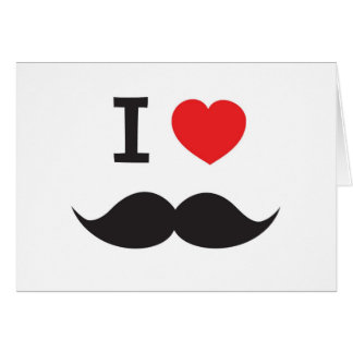 I Heart Moustache Greeting Cards
