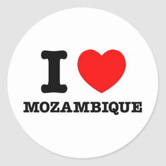I Heart Mozambique Classic Round Sticker