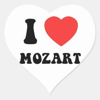 I Heart Mozart Heart Sticker