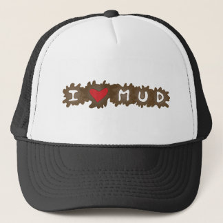 I Heart Mud Trucker Hat