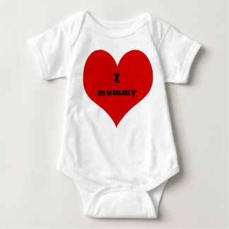 i heart mummy baby suit clothing baby bodysuit