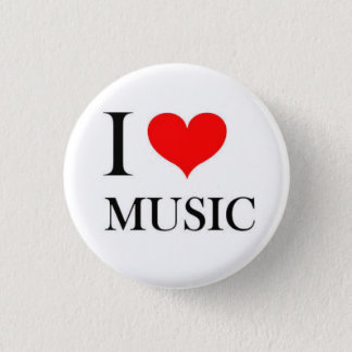 I Heart Music 1 Inch Round Button