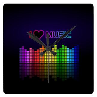 i heart music equalizer clock