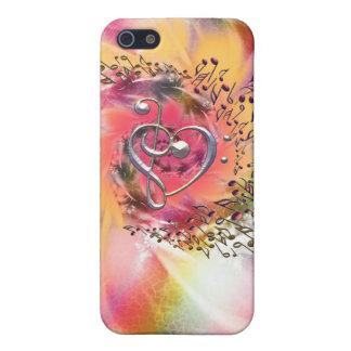 I Heart Music ~ In a Glorious Swirl of Notes Cover For iPhone 5/5S
