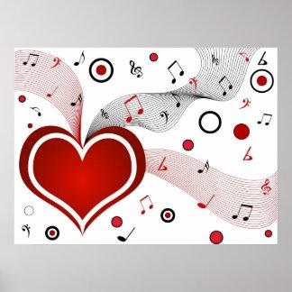 I heart music - Poster