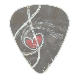 I HEART MUSIC/Professional Custom Guitar Pick Pearl Celluloid Guitar Pick