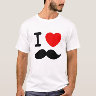 I Heart Mustaches T-Shirt